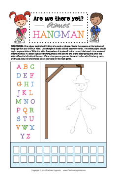 image about Printable Hangman titled Are We There However? Â« The Occasion Timetable